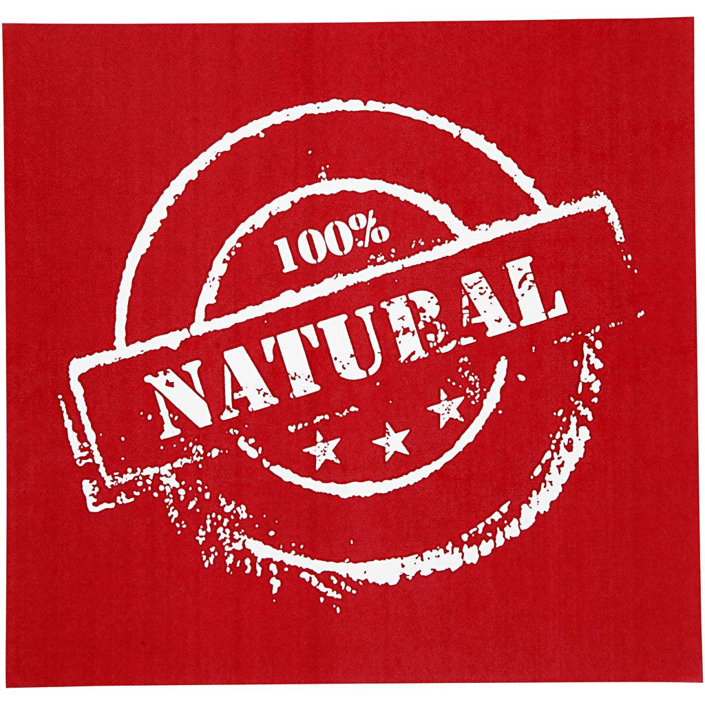 Creativ Company Screen Stencils, natural, 20x22 cm, 1 sheet