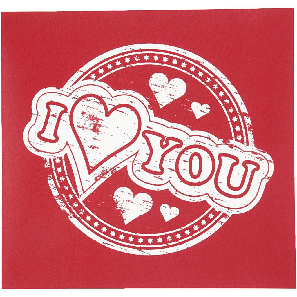 Creativ Company Screen Stencils, I love you, 20x22 cm, 1 sheet