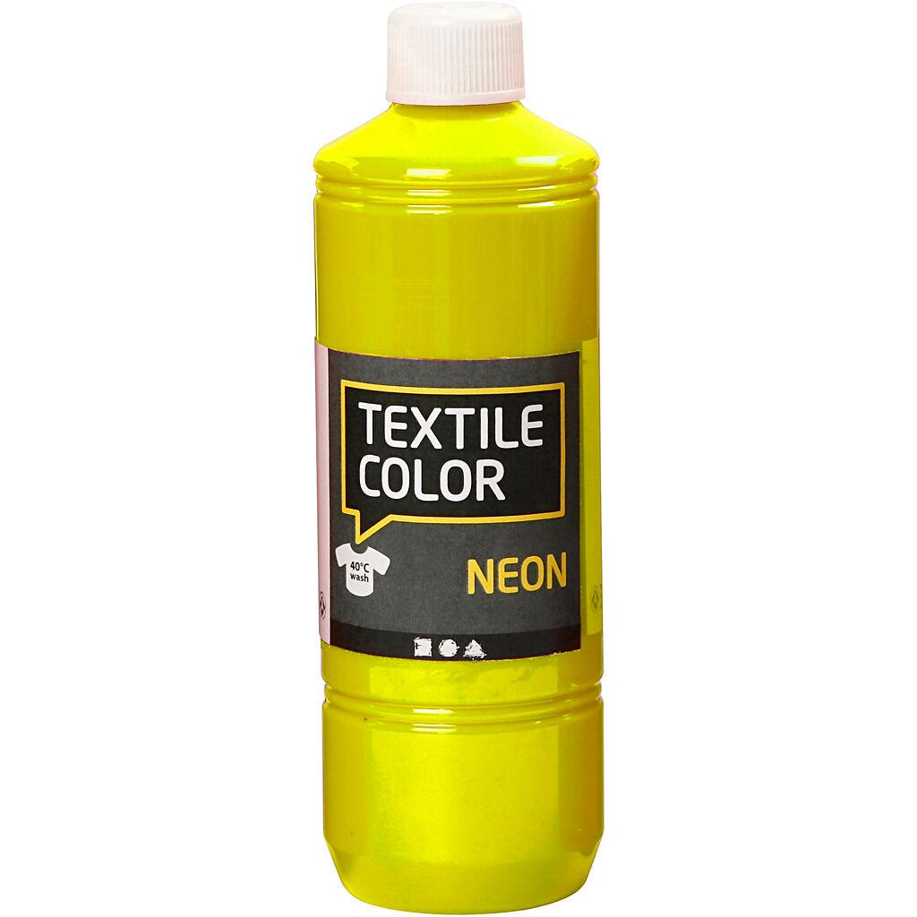 Creativ Company Textile Color Paint, neon yellow, 500 ml/ 1 bottle