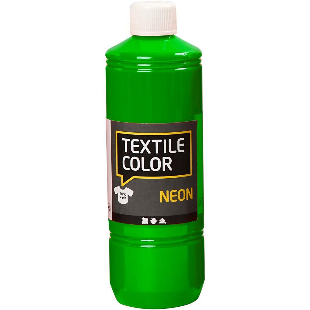 Creativ Company Textile Color Paint, neon green, 500 ml/ 1 bottle