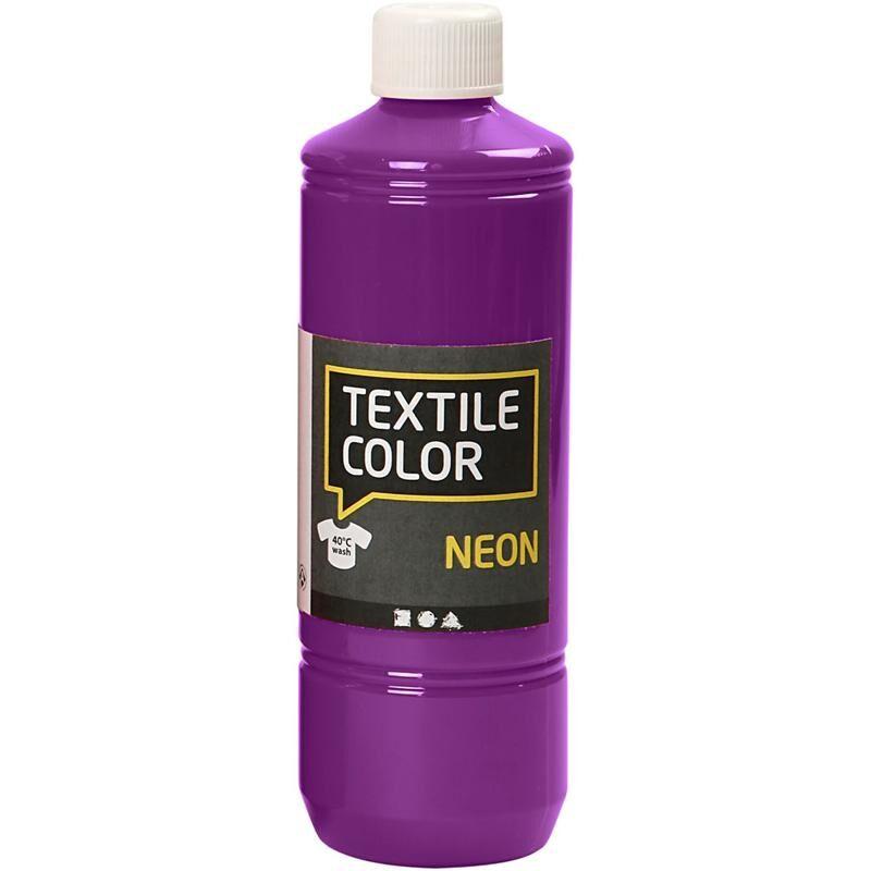 Creativ Company Textile Color Paint, neon lilac, 500 ml/ 1 bottle