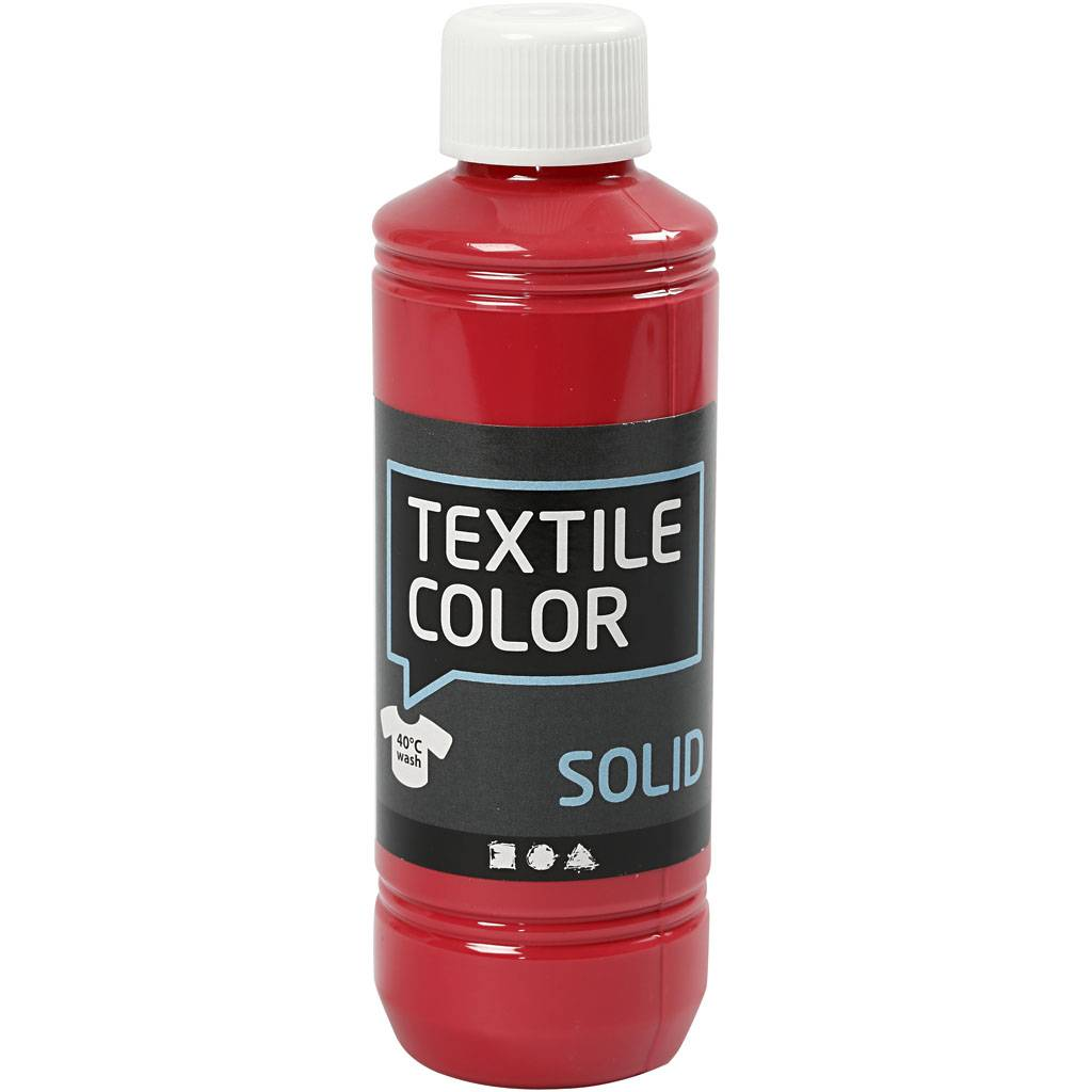 Creativ Company Textile Solid, opaque, red, 250 ml/ 1 bottle