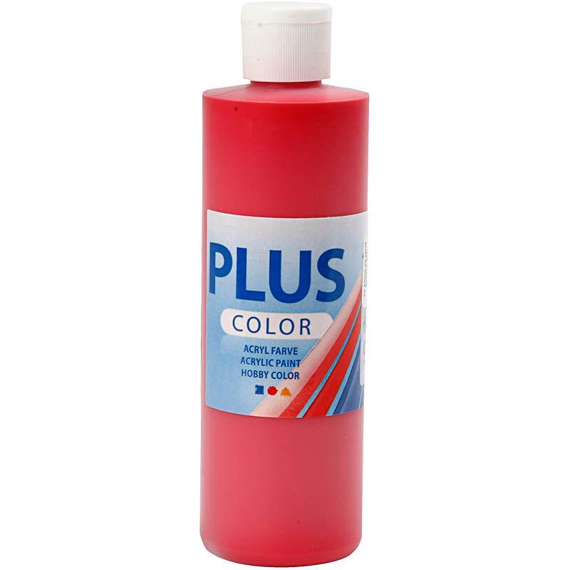 PlusColor Plus Color Craft Paint, crimson red, 250 ml/ 1 bottle