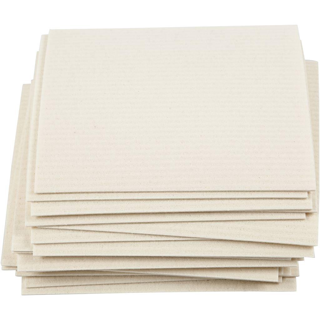 Creativ Company Sponge Cloth, size 17x19,5 cm, off-white, 20 pc/ 1 pack
