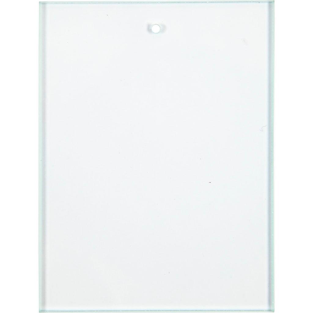 Creativ Company Glass Plate, size 8x6 cm, thickness 3 mm, 10 pc/ 1 box