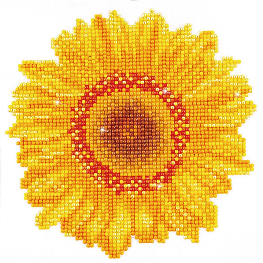 DiamondDotz Diamond Dotz, Happy Day Sunflower, size 20x20 cm, 1 pack
