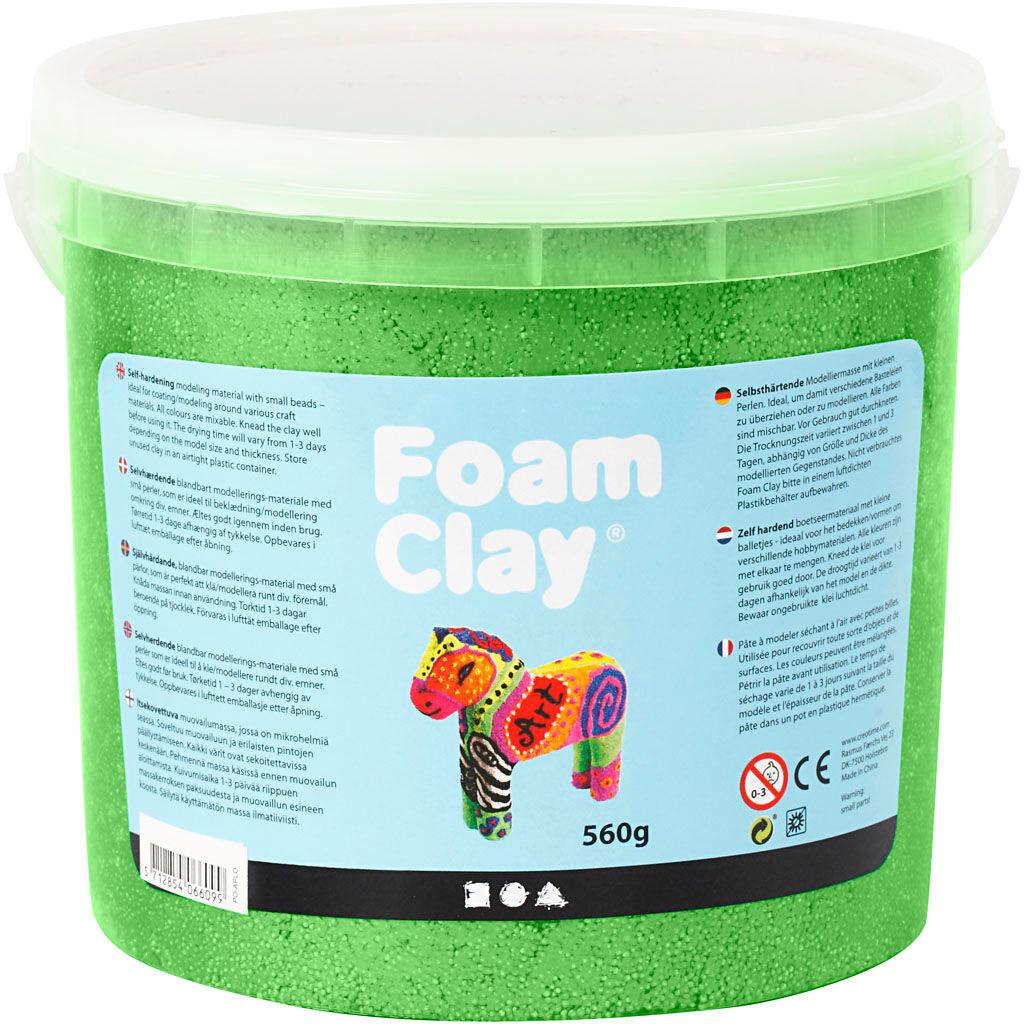FoamClay Foam Clay®, metallic, green, 560 g/ 1 bucket