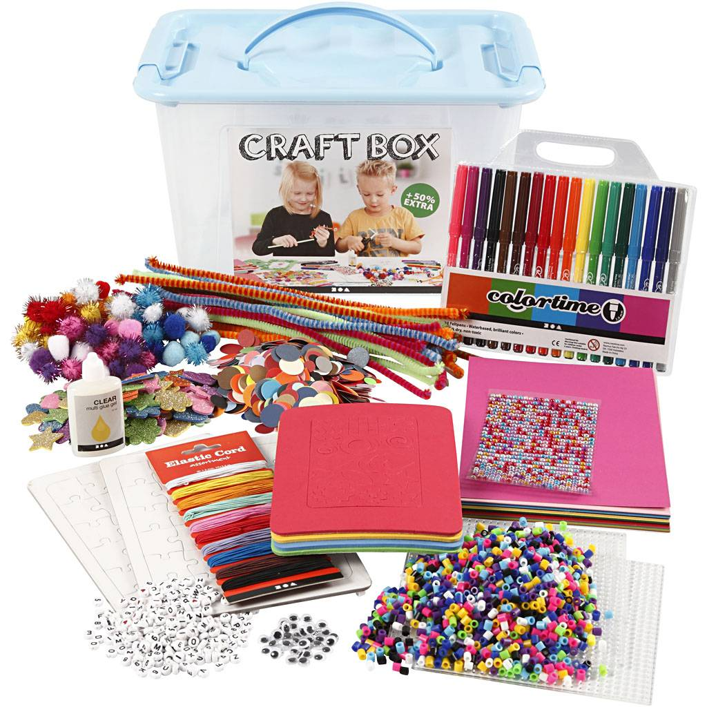 Creativ Company Craft Box Set, assorted colours, 1 pc