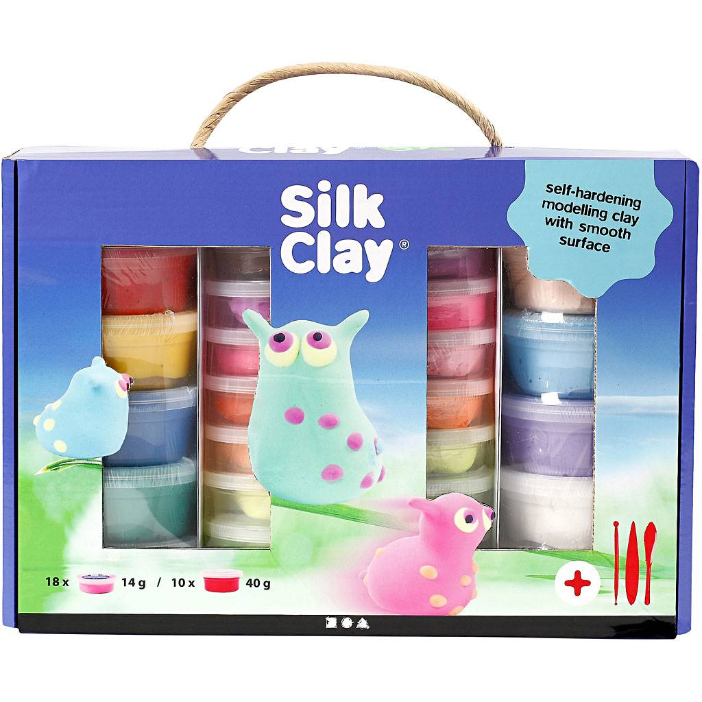 SilkClay Silk Clay® Set, assorted colours, 1 set