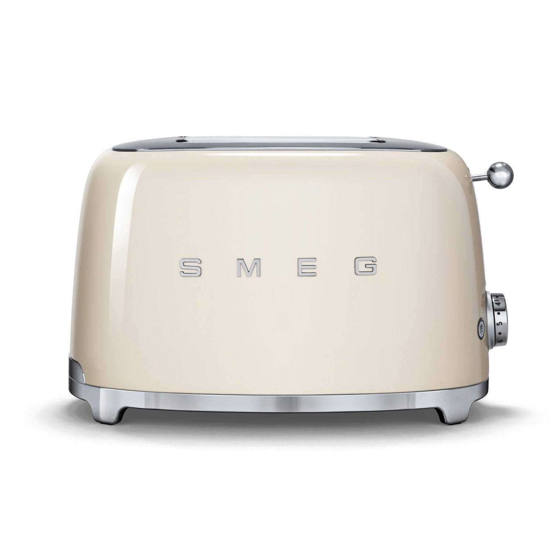 Smeg TSF01 Retro 2 Slice Toaster - Cream