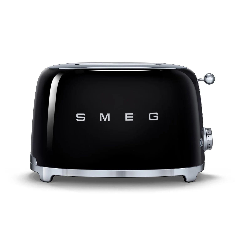 Smeg TSF01 Retro 2 Slice Toaster - Black
