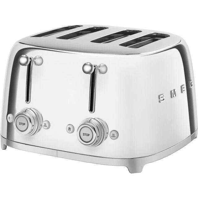 Smeg TSF03 50s Retro 4 Slice Toaster - Stainless Steel