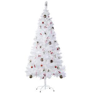 tectake Christmas tree artificial - 180 cm, 533 tips, white