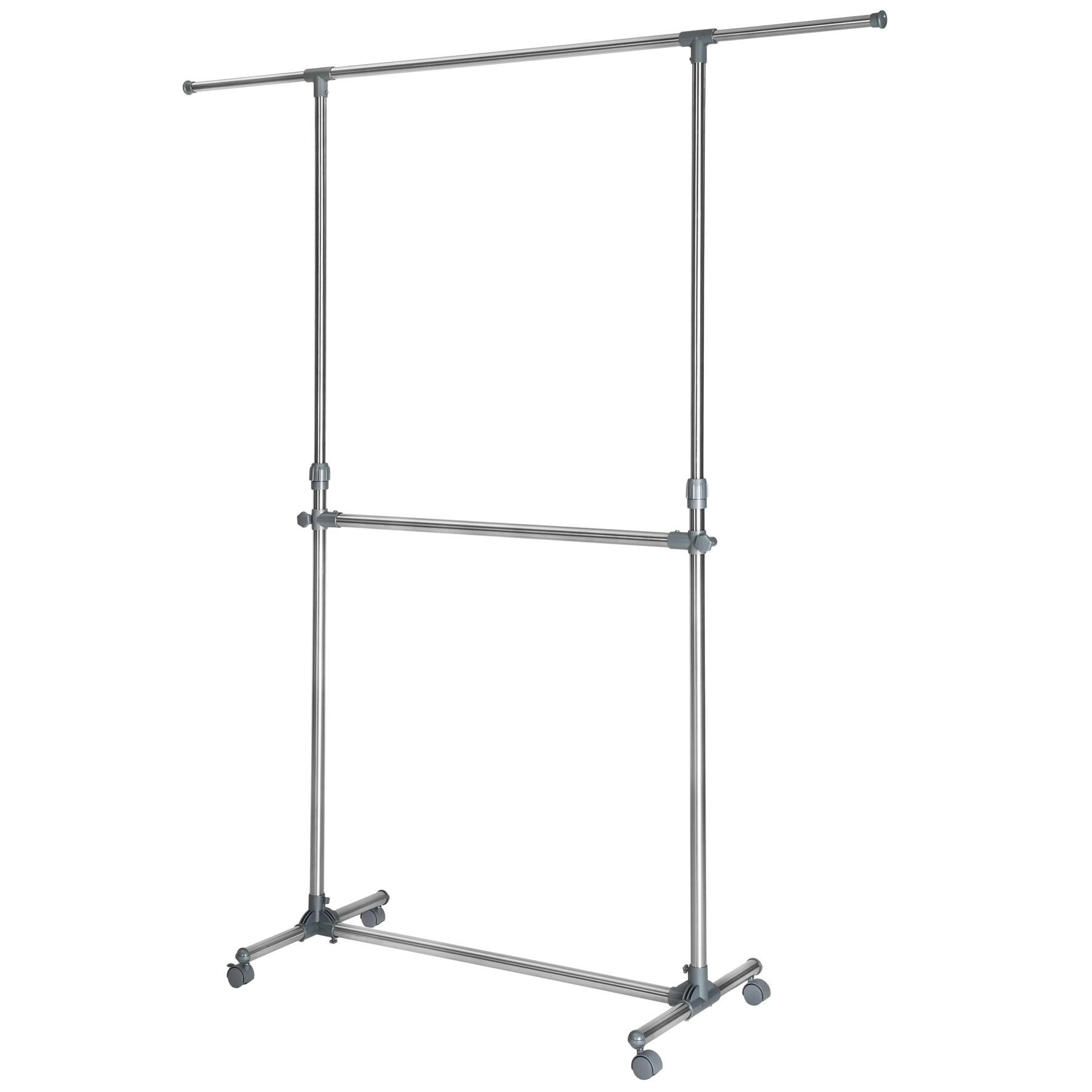 tectake Clothes rack 165x48x200 cm - grey