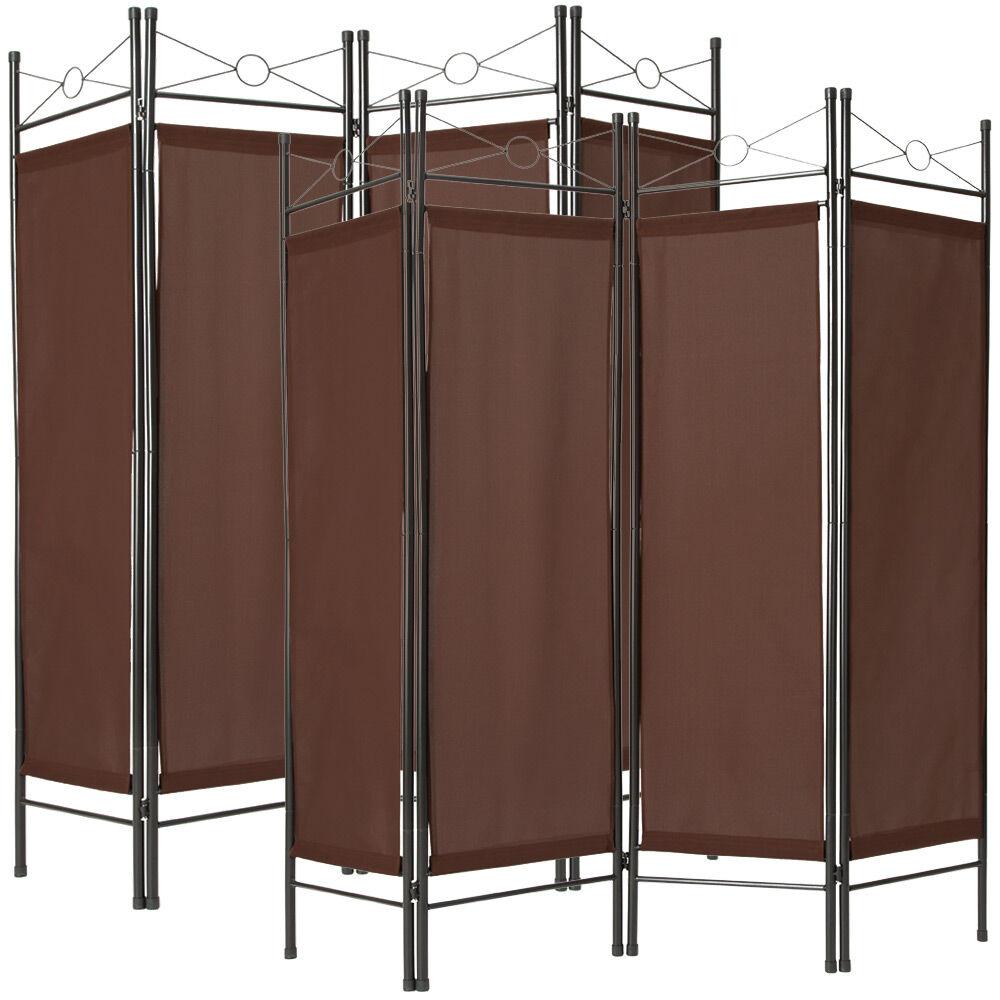 tectake 2 room dividers paravent - brown