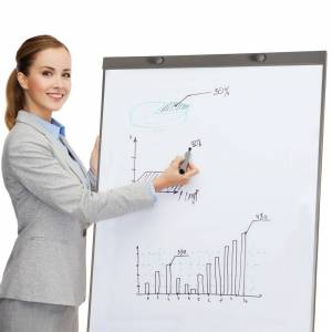 tectake Whiteboard discussion board 65x95cm white + 12 magnets - white