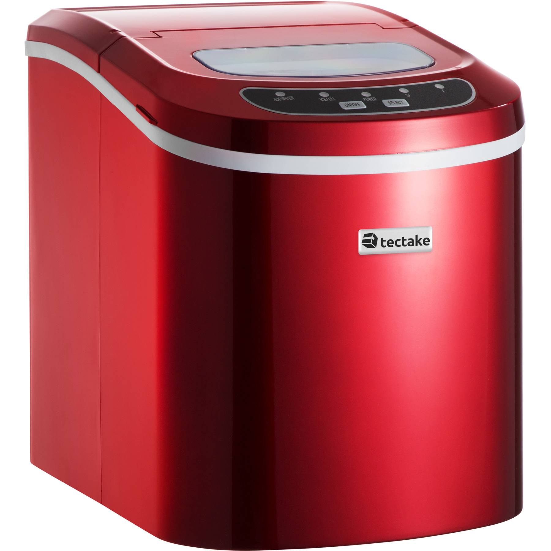 tectake Ice maker bullet ice - red