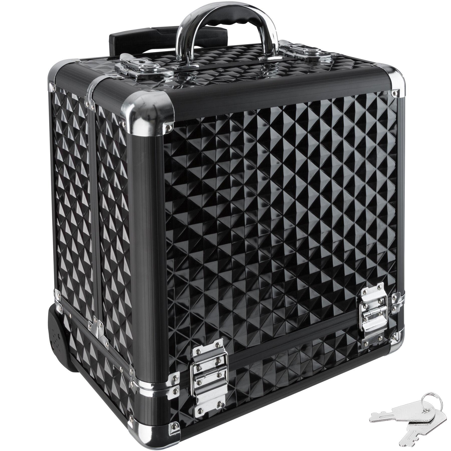 tectake Vanity case with wheels - black