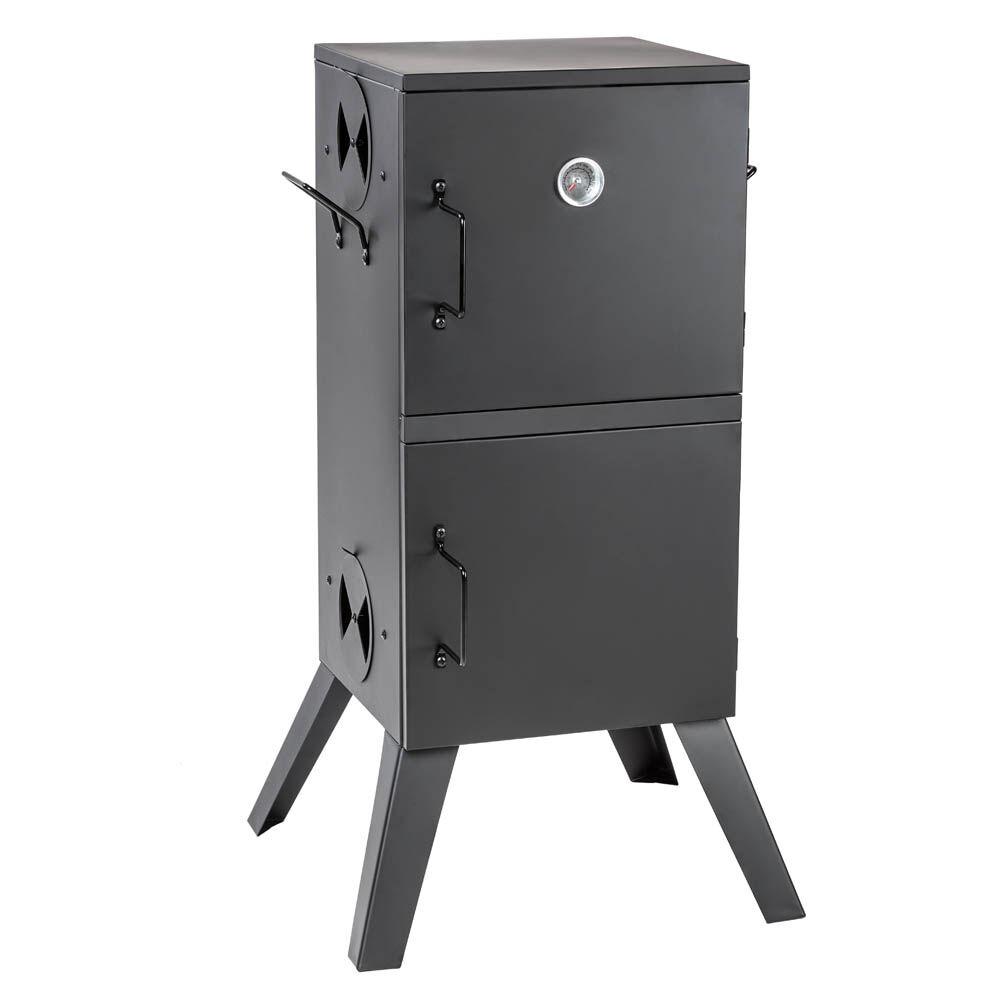 tectake Smoker with temperature display - black