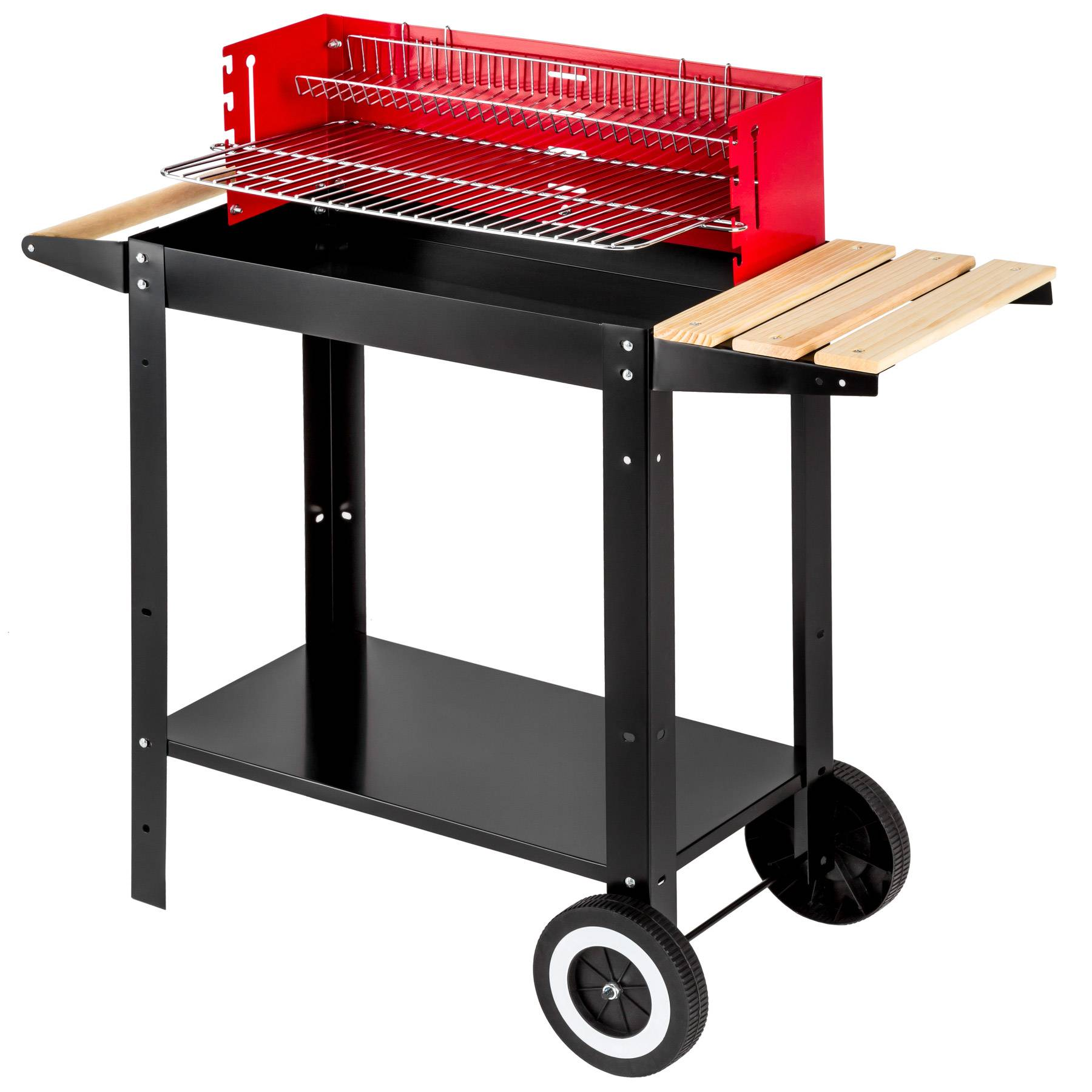 tectake BBQ grill - black/red