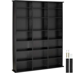 tectake CD shelves Stevie , DVD Shelving unit - bookshelf - black