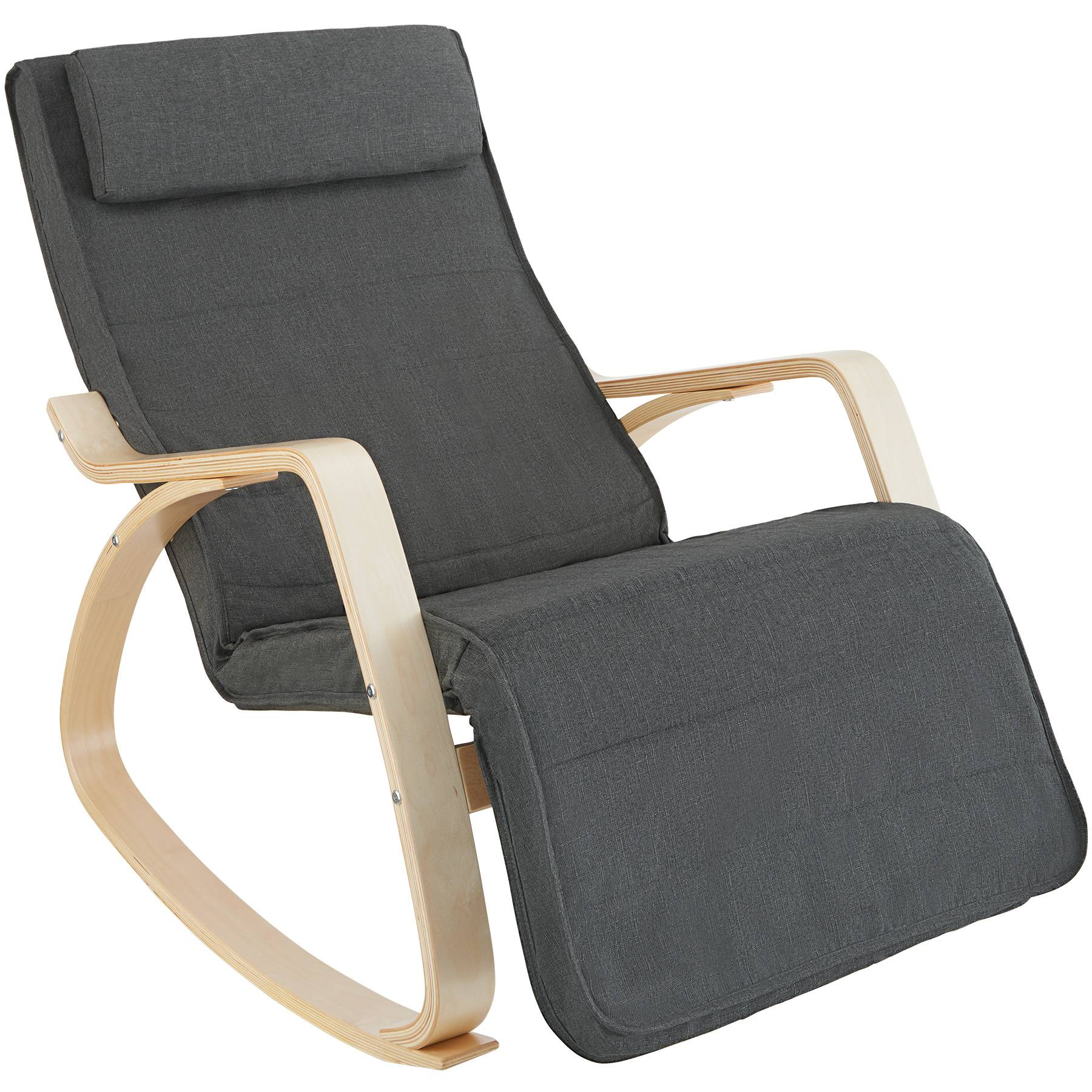 tectake Onda Rocking Chair - dark grey