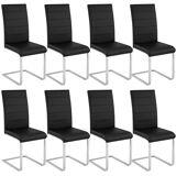 tectake 8 dining chairs rocking chairs - black