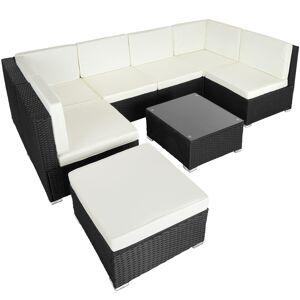 tectake Rattan garden furniture lounge Venice - black