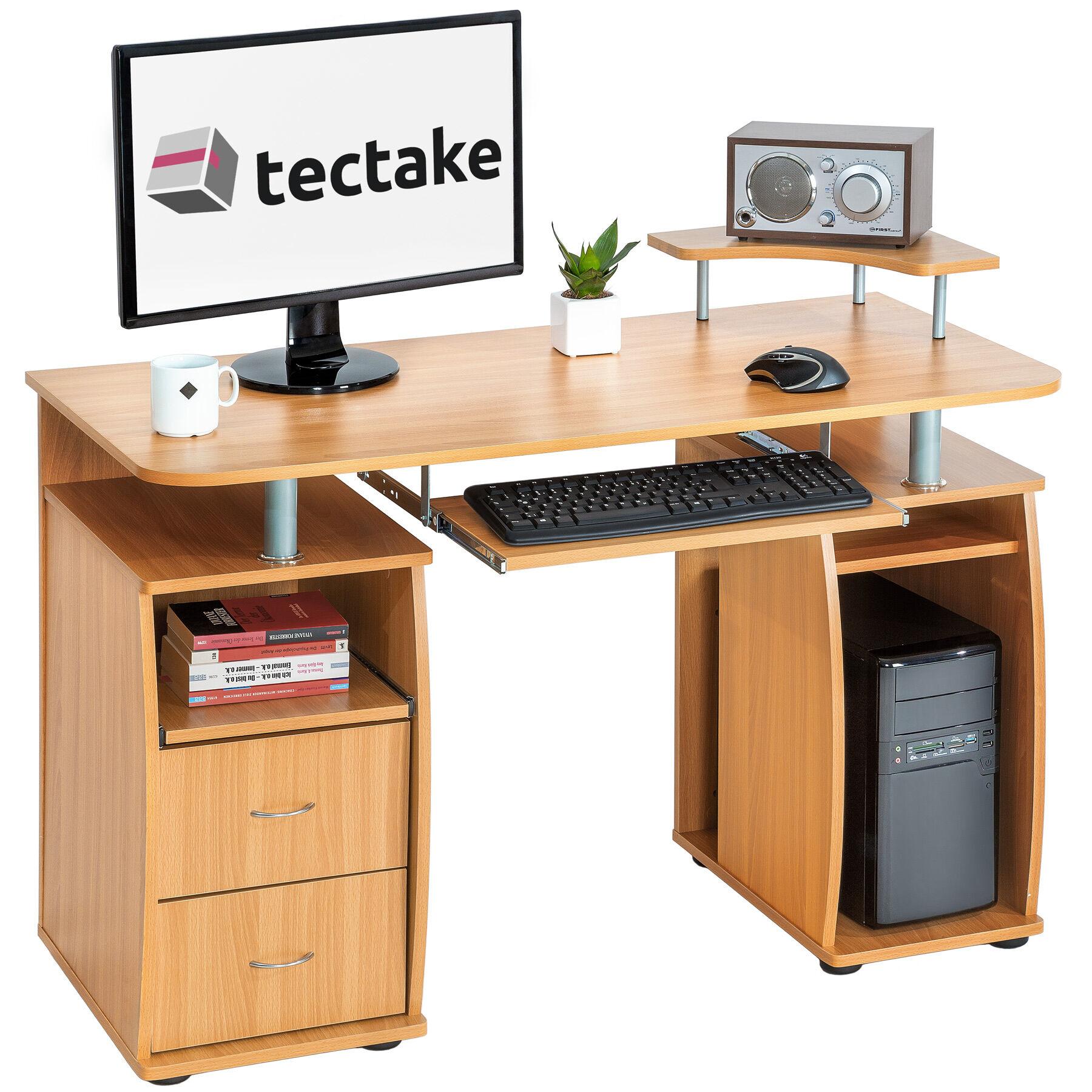 tectake Computer desk 115x55x87cm - beech