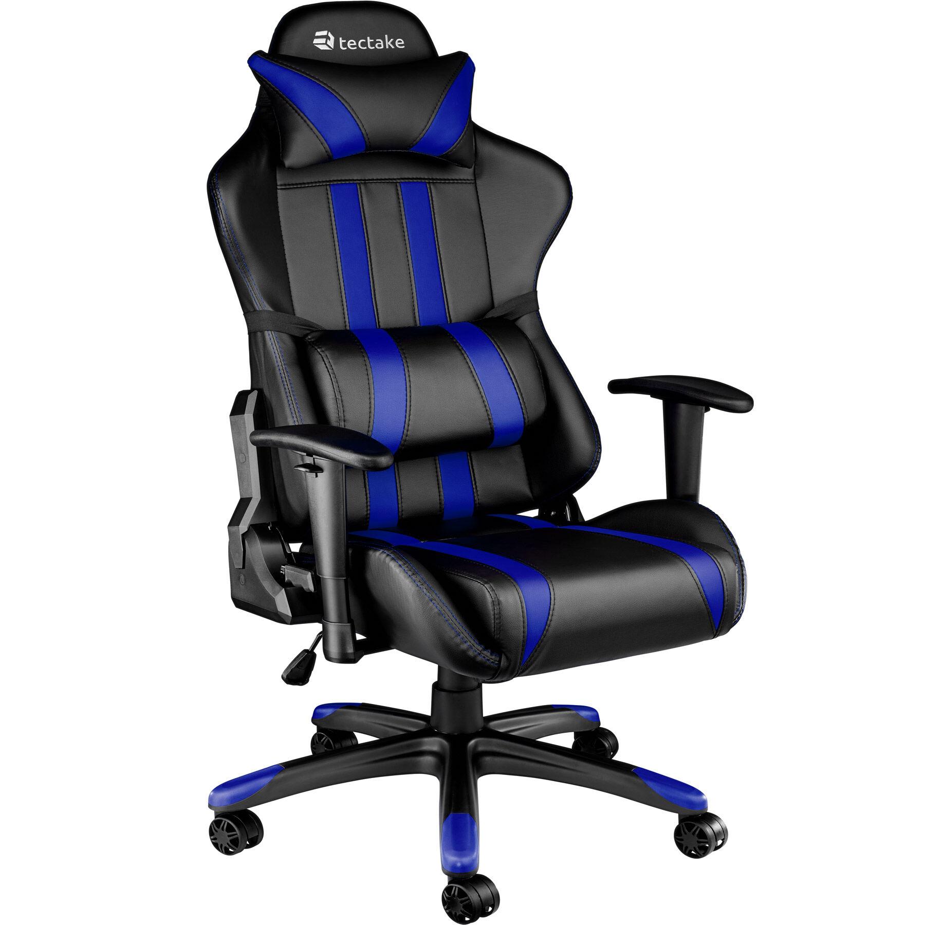 tectake Gaming chair premium - black/blue