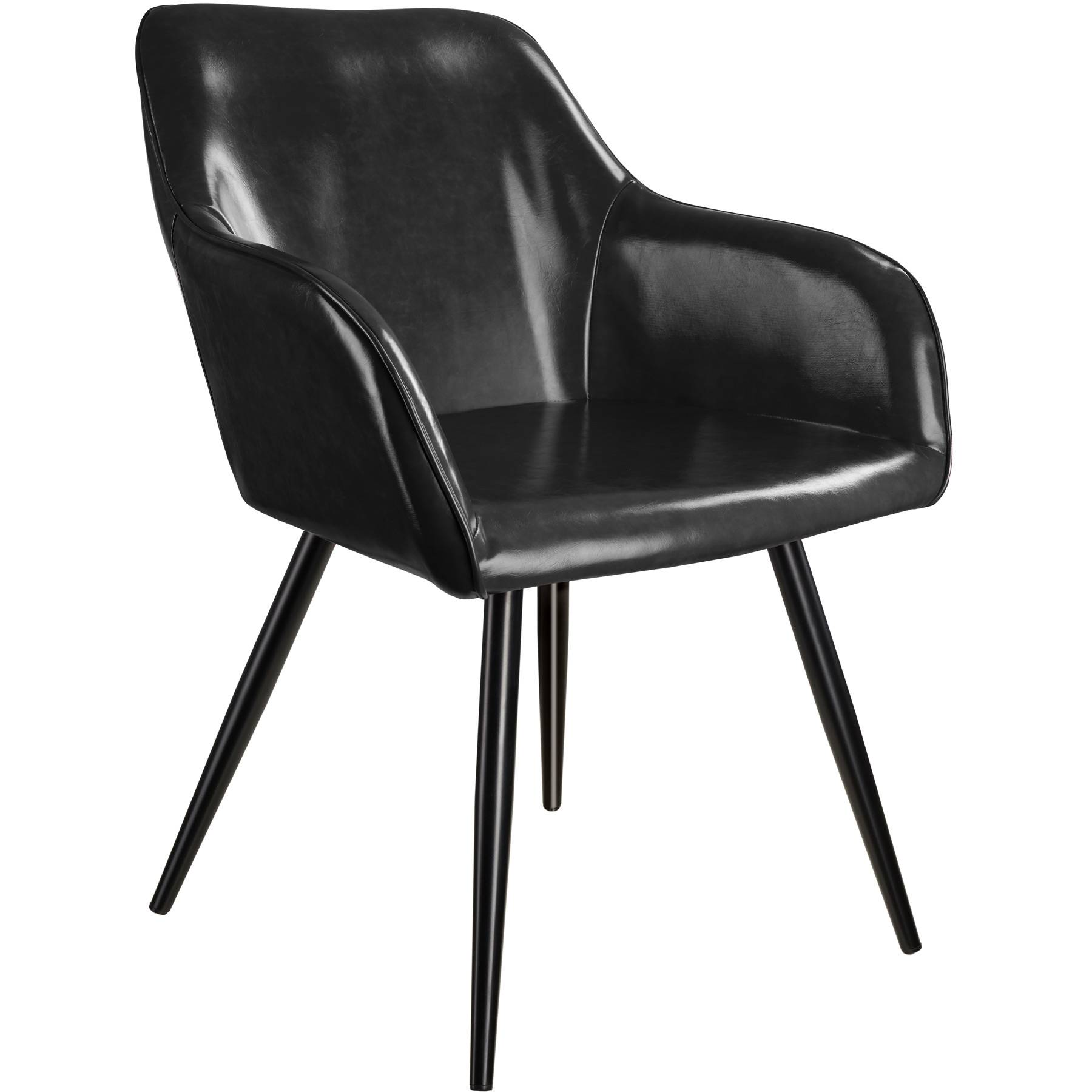 tectake Marilyn Faux Leather Chair - black