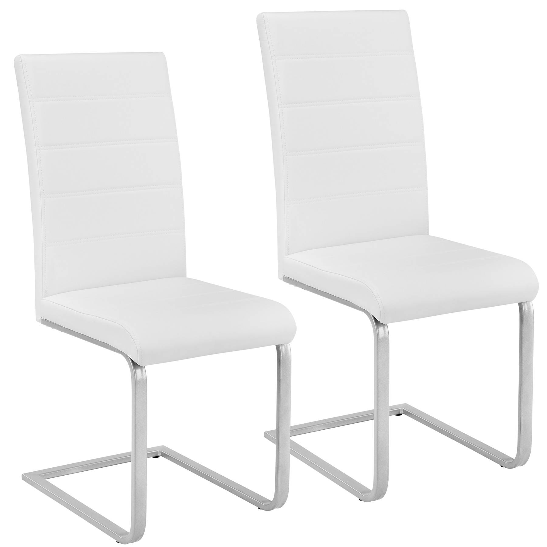 tectake 2 dining chairs rocking chairs - white