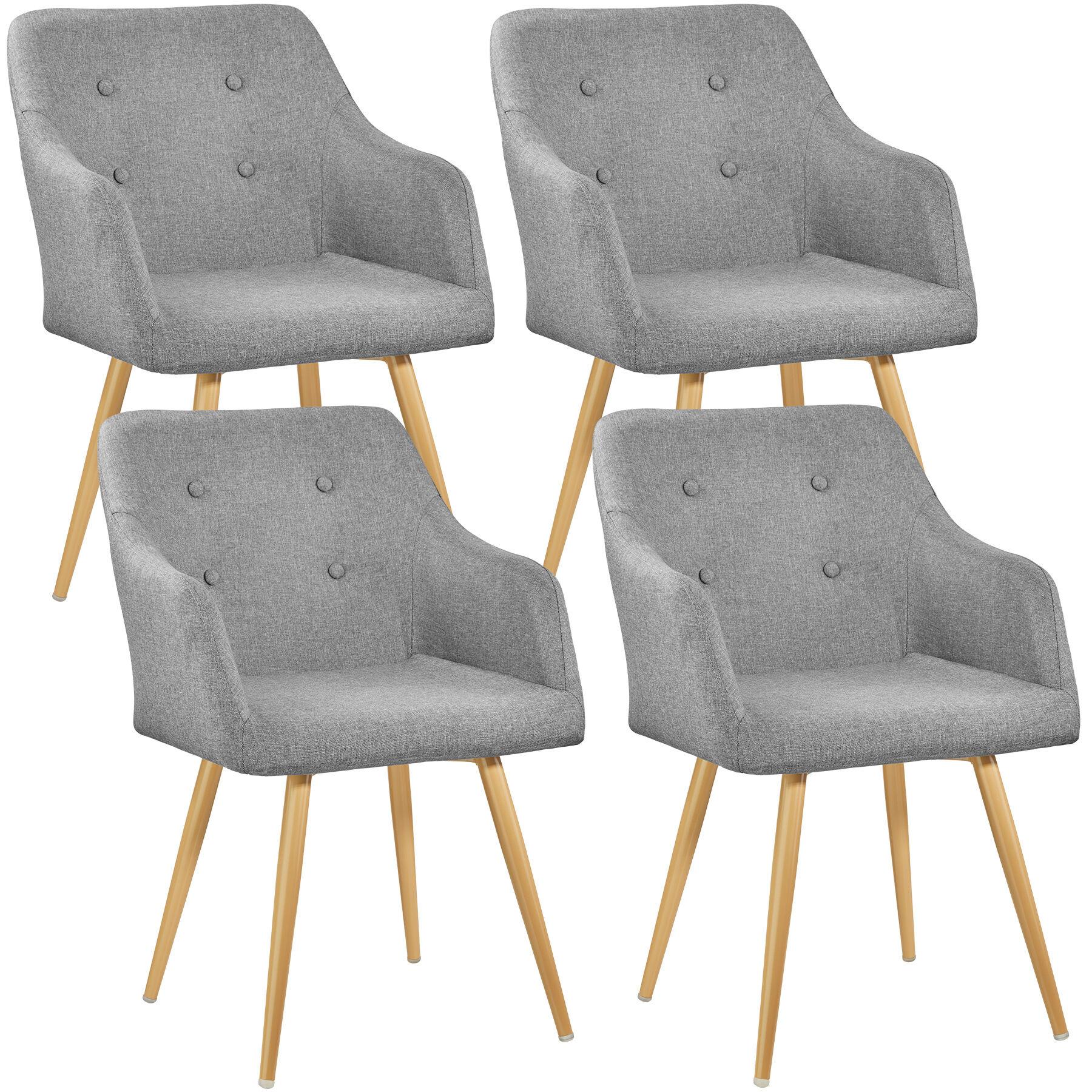 tectake 4 Chairs Tanja - grey