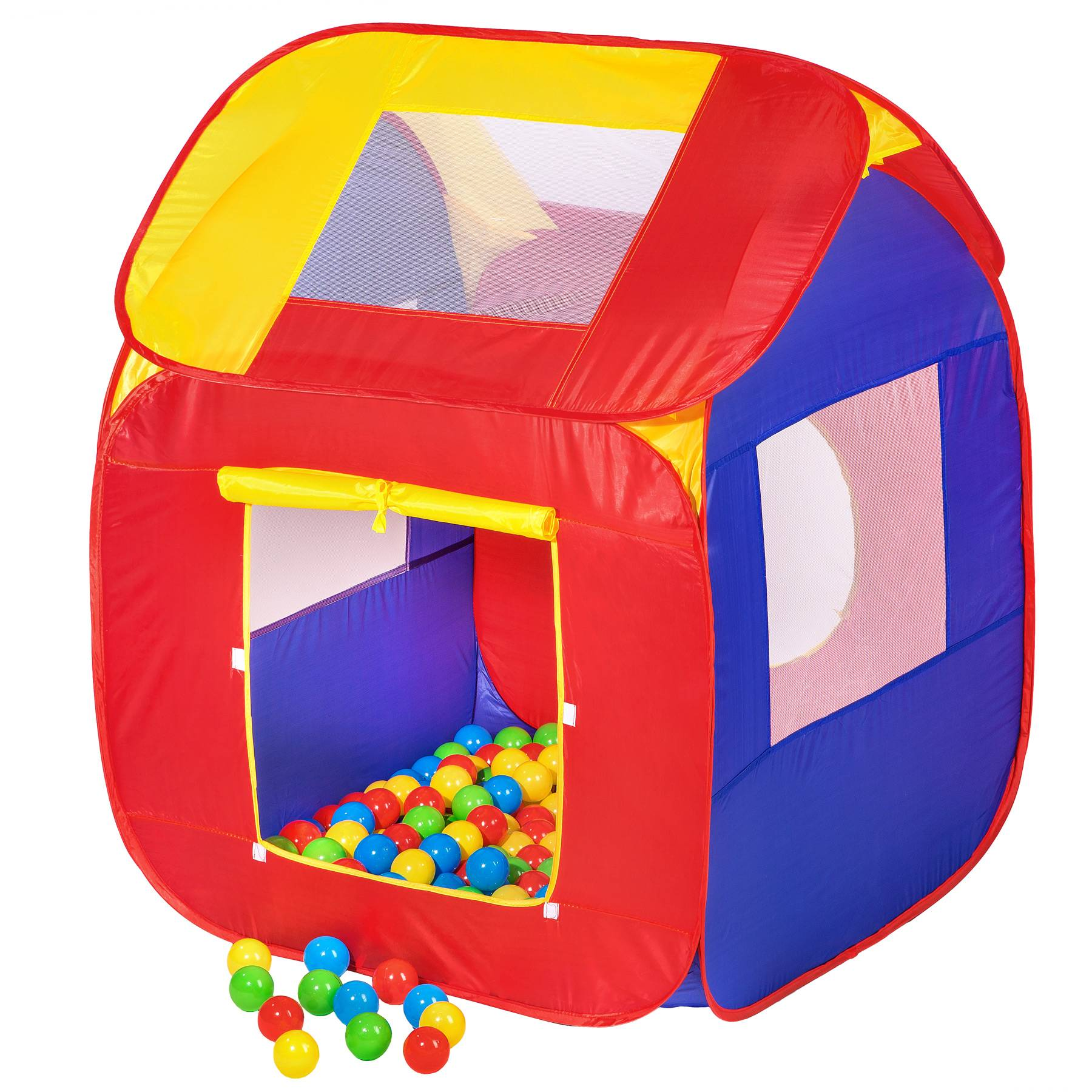 tectake Play tent with 200 balls pop up tent - colorful
