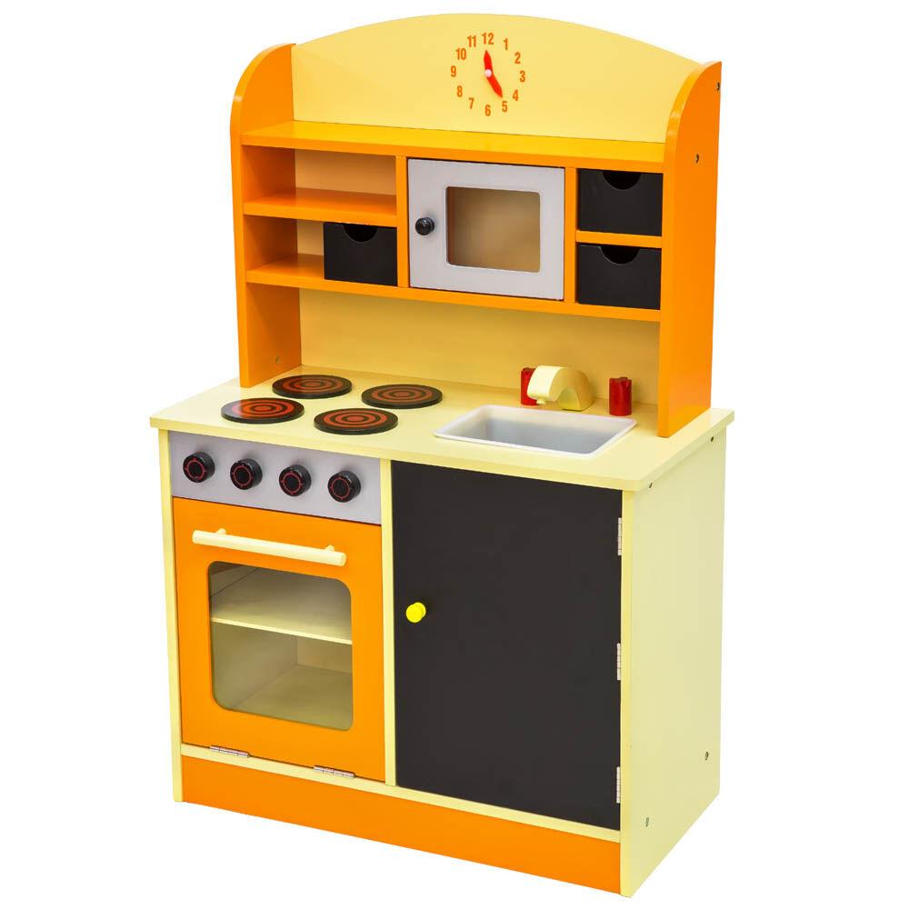 tectake Toy kitchen - orange