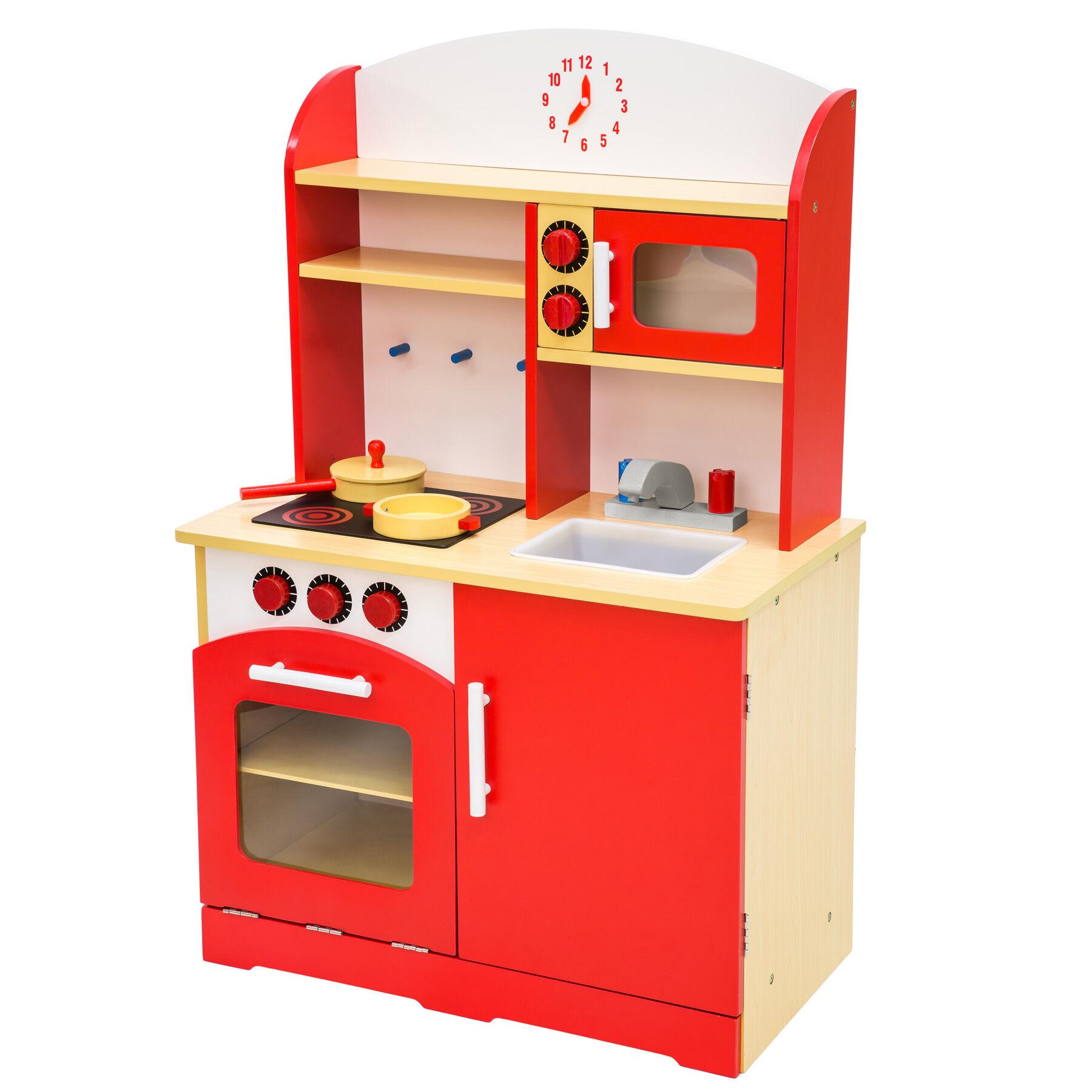 tectake Toy kitchen - red
