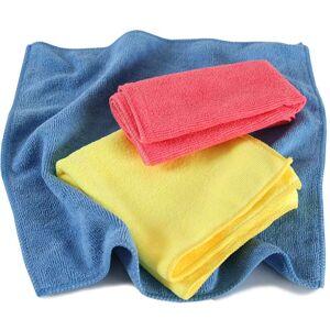 tectake 1,000 microfibre cloths - colorful