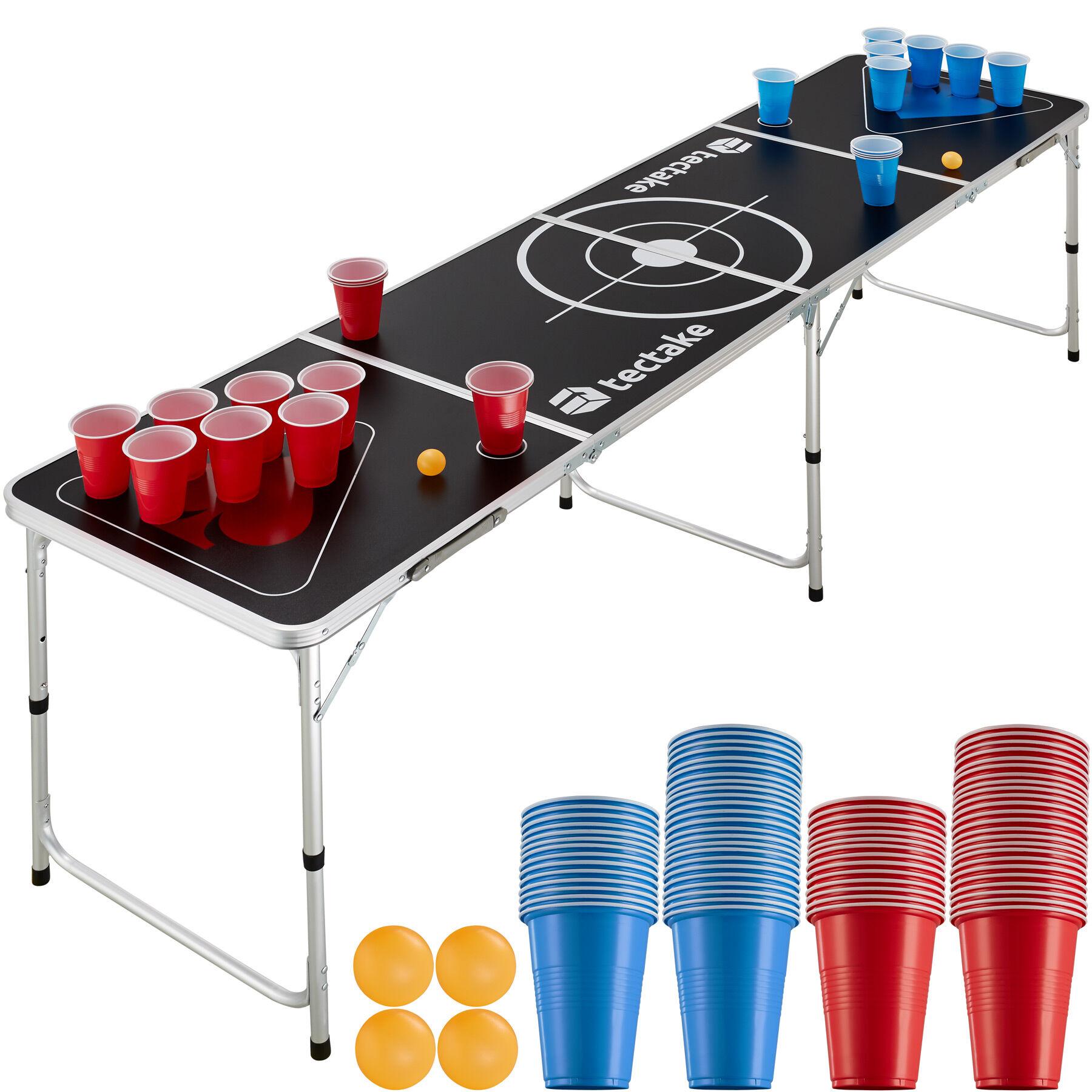 tectake Spring Break Beer Pong Table - black