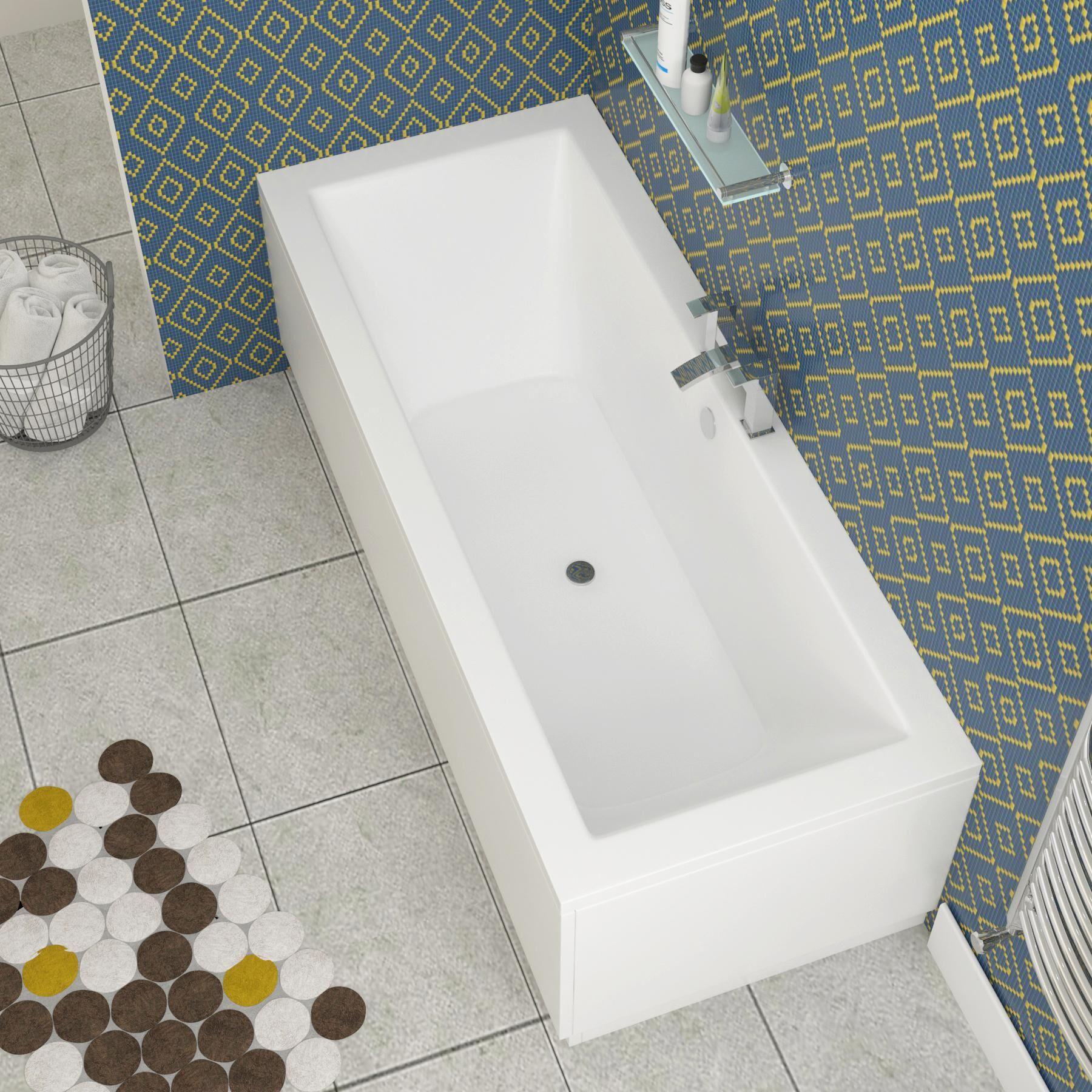Royal Bathrooms Amaze Square Double Ended Bath Acrylic + Optional MDF Panels