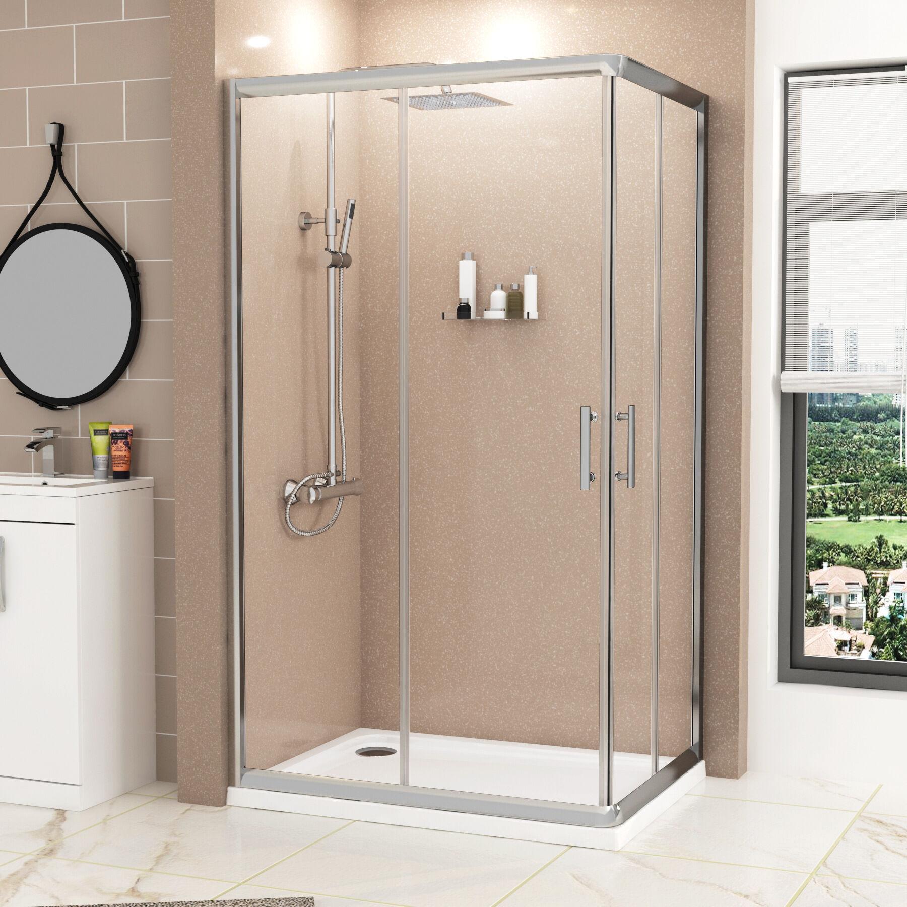 Royal Bathrooms Plaza 1000 x 760mm Rectangular Corner Entry Shower Enclosure - Sliding Door