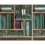 EDEM Book Shelf wallpaper wall EDEM 81155BR28 hot embossed non-woven Wallpaper with books matt brown emerald green wine red grey blue 10.65 m2 (114 ft2)