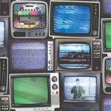 MURIVA Retro Vintage TV Wallpaper Television Screen Paste The Wall Vinyl Multicoloured