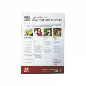 SIGNSLAB HSE Health And Safety Law Poster A2 - SR72156
