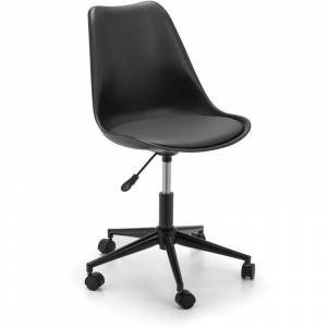 Genevieve Padded Pu Leather Adjustable Office Chair - Black