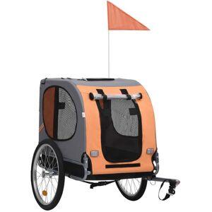 VIDAXL Dog Bike Trailer Orange and Brown - Brown - Vidaxl
