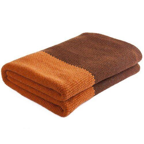Nord Snow Natural Style Merino Wool Blanket Orange