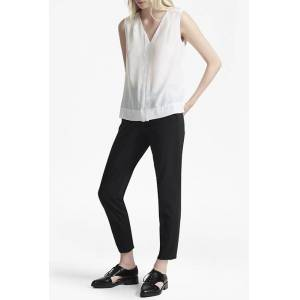 French Connection Crepe Light V Neck Top Summer White  - red - Size: Extra Small - Gender: female