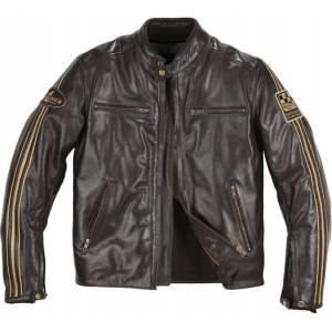 Helstons Ace Fender Leather Jacket Brown S