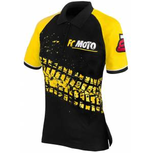 FC-Moto Corp Ladies Polo Shirt Black Yellow M