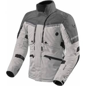 Revit Poseidon 2 Gore-Tex Motorcycle Textile Jacket  - Black Grey Silver - Size: L